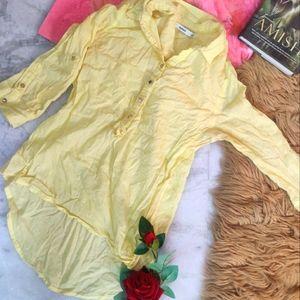 *throaway price* Bossini Yellow Button Down Shirt